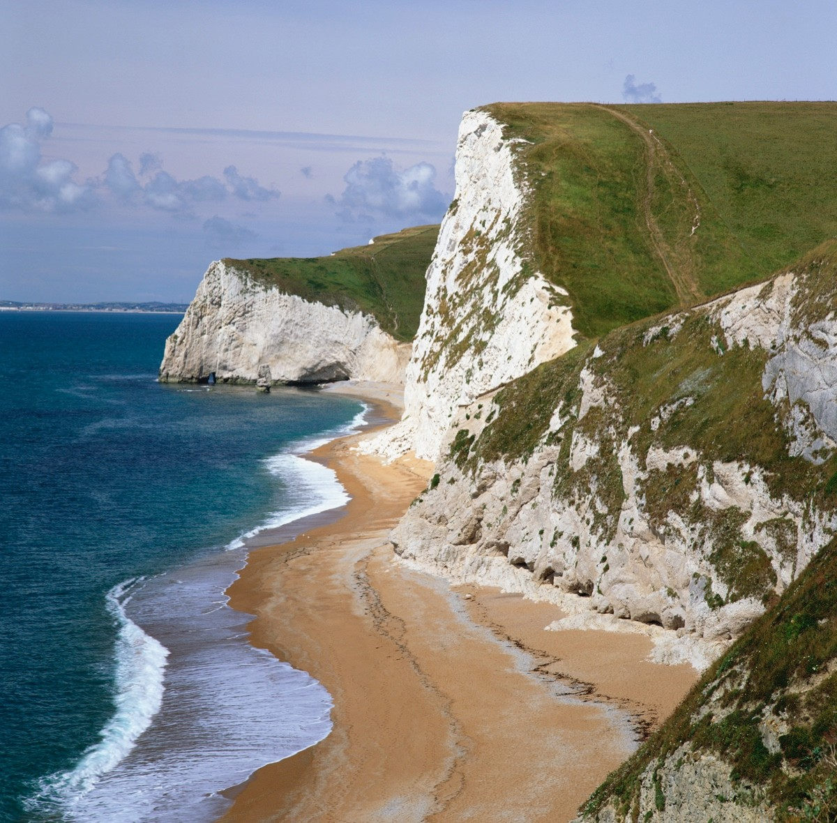 Cliffs on seashore, England