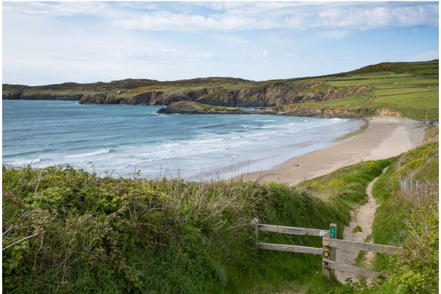 Stroll along the blissful shores of Whitesands Bay