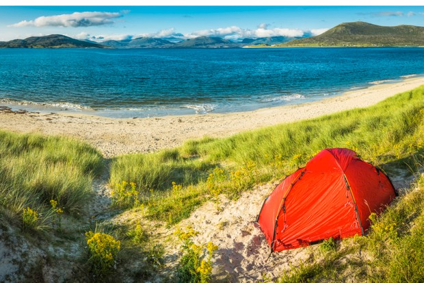 Wild camping Outer Hebrides