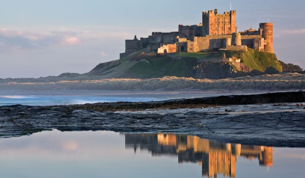 Bamburgh castle view