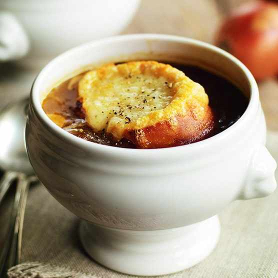 French onion soup recipe (Photo by: BBC Good Food)