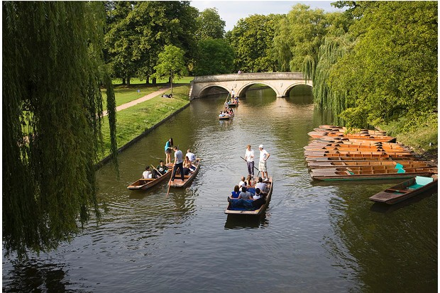 Relaxed punters on the River Cam