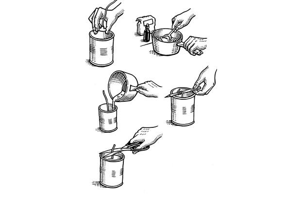 How to make jam jar candles