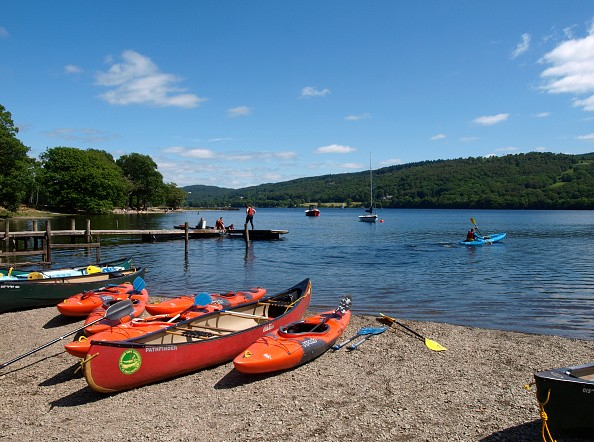 Watersports on Coniston Water, The Lake District, Cumbria, UK. (Photo by: Education Images/UIG via Getty Images)