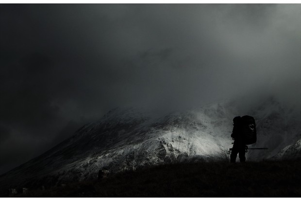 Hiker beneath Ben Nevis, Scotland ©Jake Graham