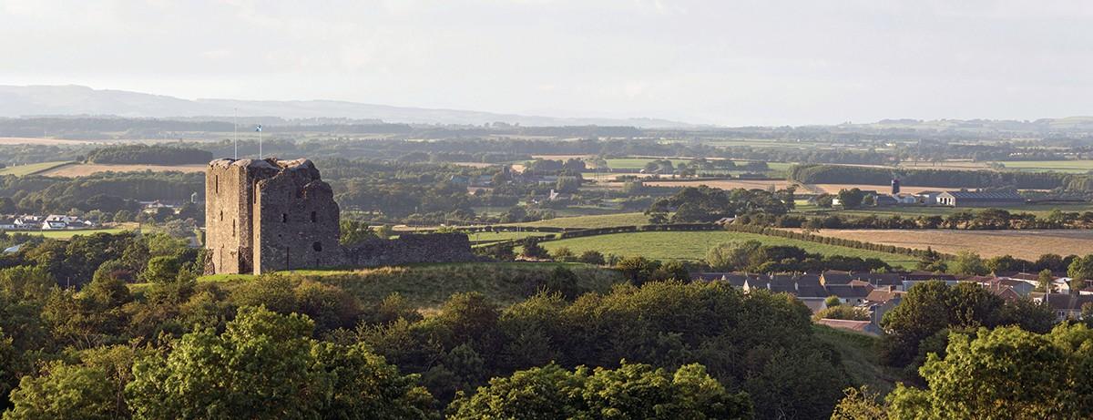 D23E9E Dundonald Castle at Dundonald, South Ayrshire.