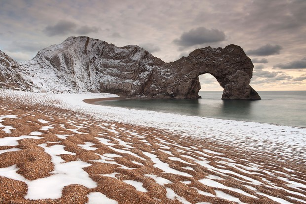 durdle door winter