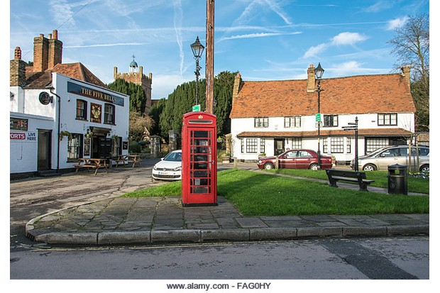FAG0HY Harmondsworth an ancient village threatened with destruction due to Heathrow Airport expansion