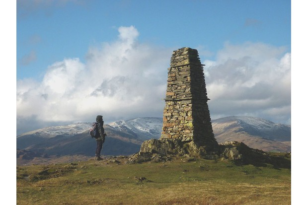 The summit of Latterbarrow in the Lake District