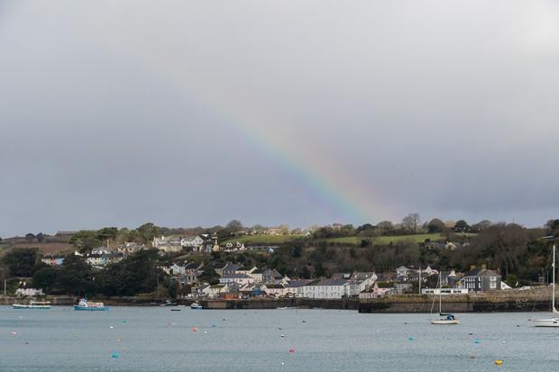 Rainbow over Flushing ©Christine Matthews, Geograph