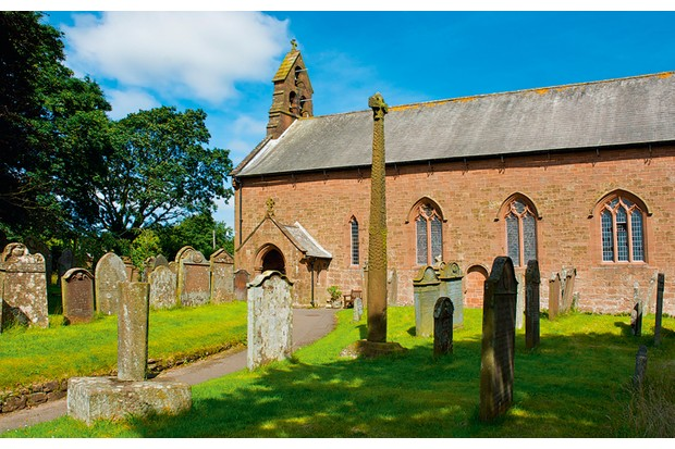 Gosforth Cross is patterned with images of Norse mythology