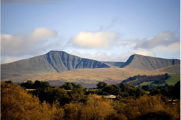 brecon beacons national park landscape powys wales