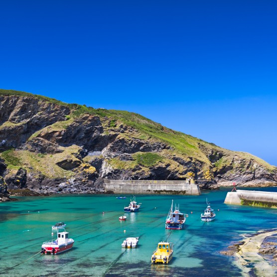 Harbour in fishing village Port Isaac, Cornwall, England