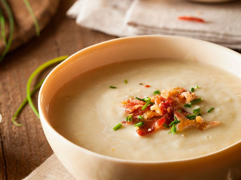 Rustic leek and potato soup recipe