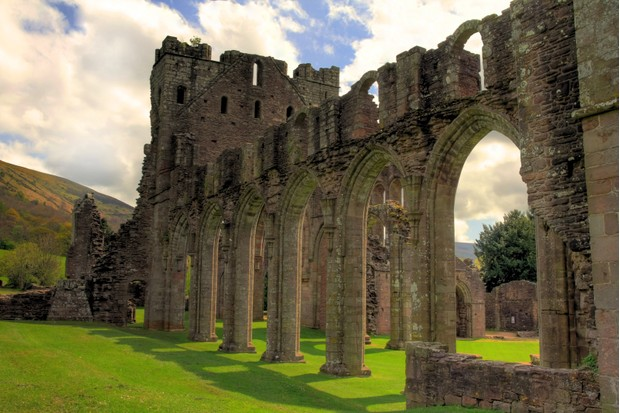 Llanthony Priory sits in the Vale of Ewyas in Monmouthshire