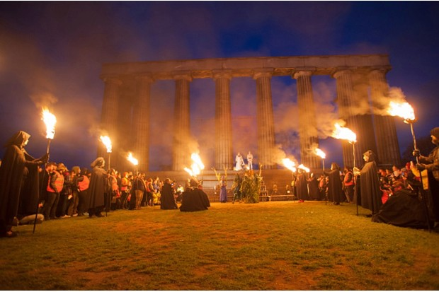 EDINBURGH, SCOTLAND - APRIL 30:  Beltane Fire Society performers celebrate the coming of summer by participating in the Beltane Fire Festival on Calton Hill April 30, 2015 in Edinburgh, Scotland.  The event, first organized in the mid-1980's, celebrates the ending of winter and is a revival of the ancient Celtic and Pagan festival of Beltane, the Gaelic name for the month of May.  (Photo by Roberto Ricciuti/Getty Images)
