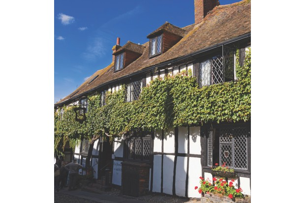 The Mermaid Inn, Rye, Sussex. Historic Inn, the current timber framed building dating from 1420, with cellars built in 1156. The inn was used by a notorious gang of smugglers during the 18th century.