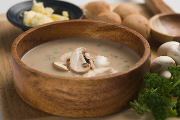 Portobello mushroom and apple soup recipe (Photo by: Getty Images)