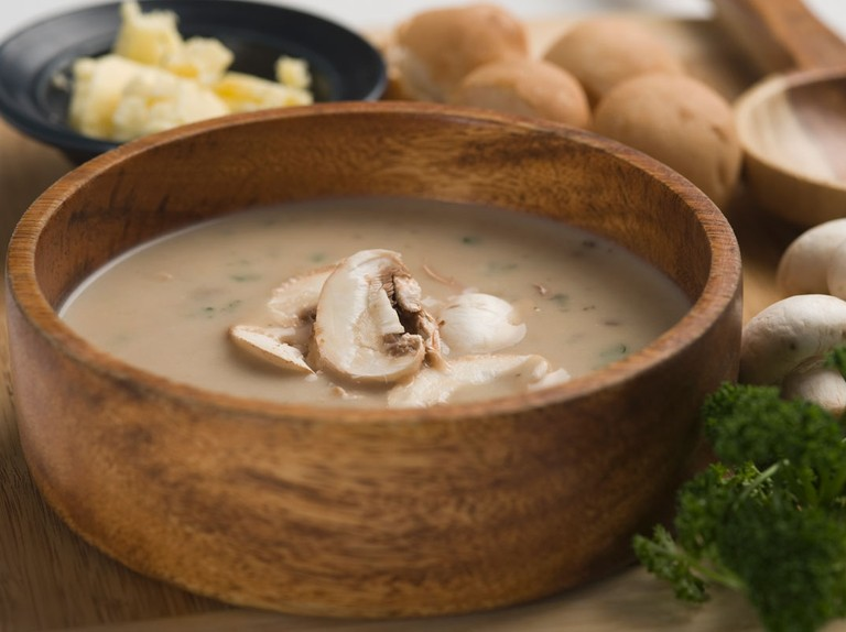 Portobello mushroom and apple soup recipe