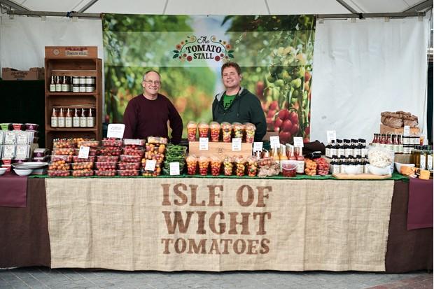 Isle of Wight tomatoes abergavenny food festival