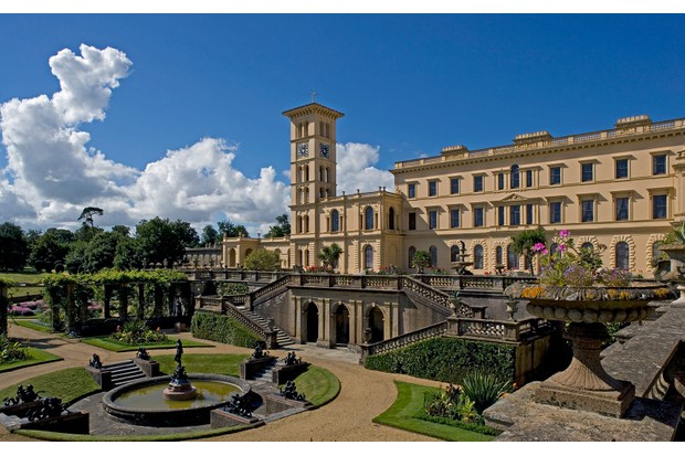 Osborne House, built between 1845-1851 in Italian Renaissance style as Queen Victoria's summer residence, Cowes, Isle of White, United Kingdom.