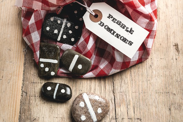 Make your own pebble dominoes, perfect for homemade gifts