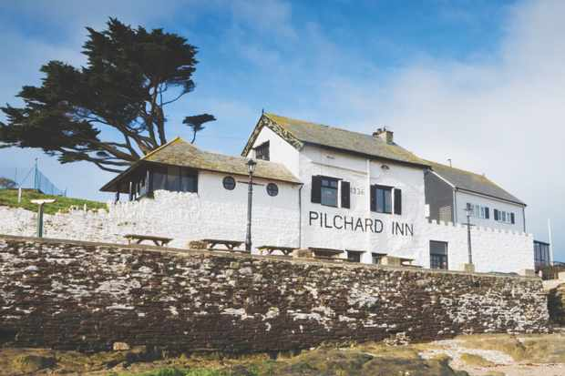 The Pilchard Inn on Burgh Island. Bigbury-on-Sea. South Hams. Devon. England. UK.