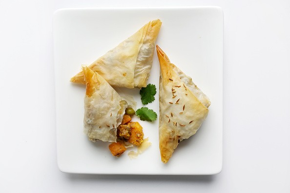WASHINGTON, DC- DECEMBER 17, 2014:    Sweet Potato Samosas    (Photo by Deb Lindsey for the Washington Post).