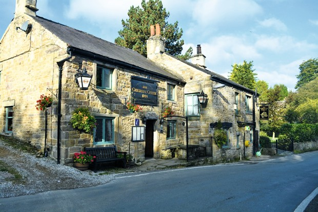 The road past the Cheshire Cheese Inn was a key trade route for salt sellers and sheep drovers in medieval times