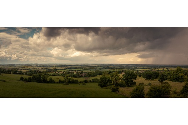 Countryside and storm clouds