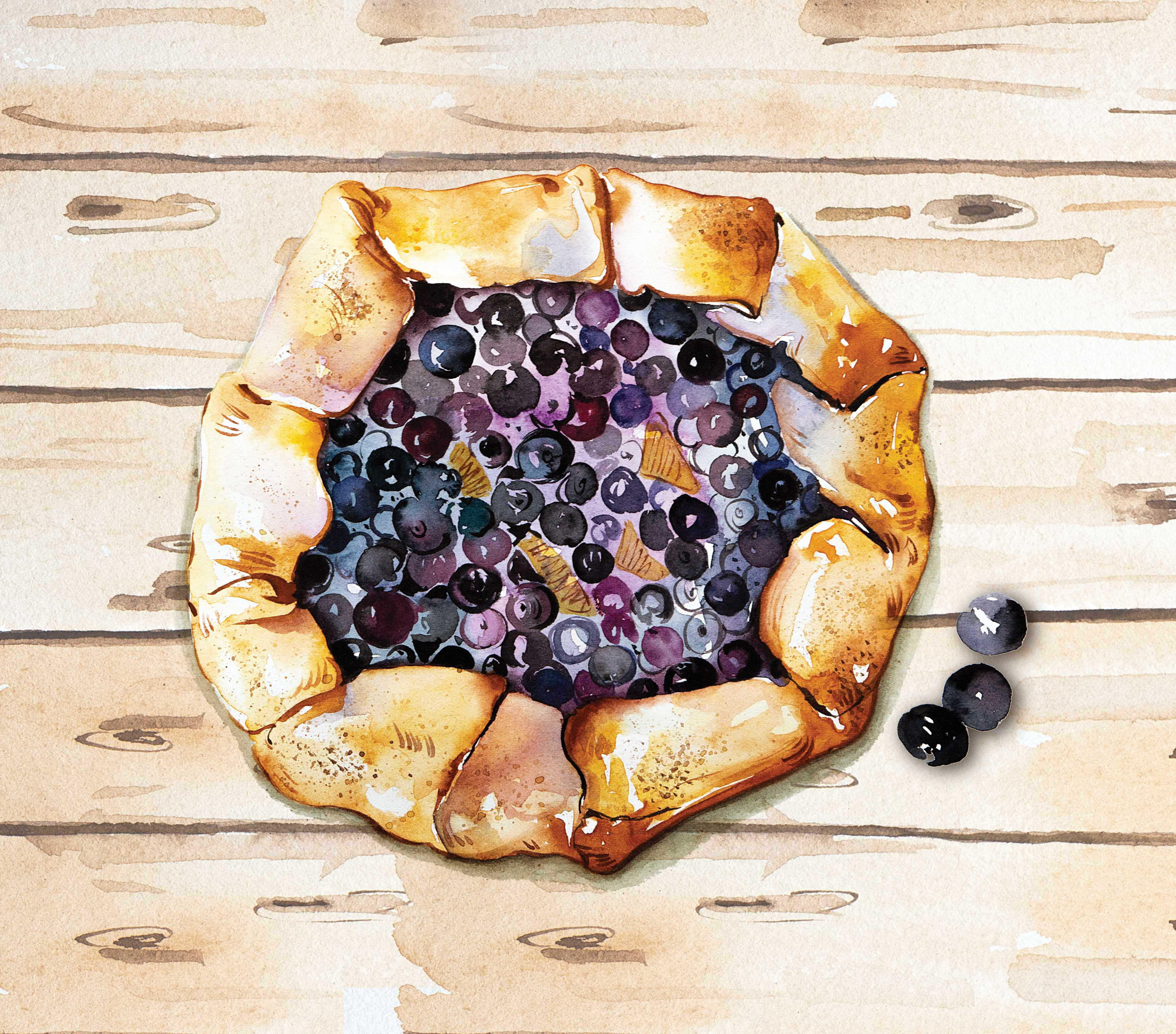 Bilberry-galettes