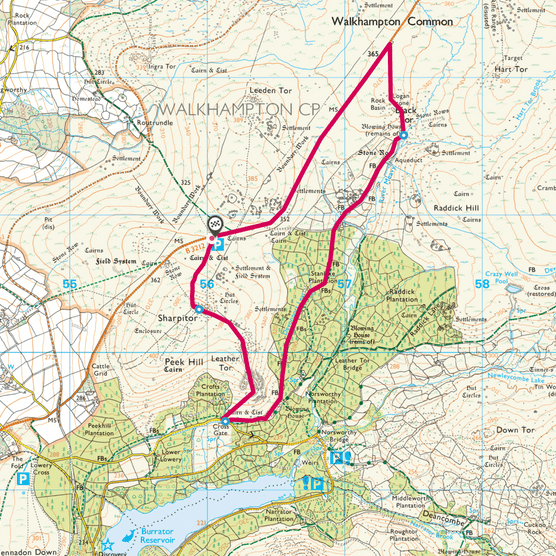 Burrator map