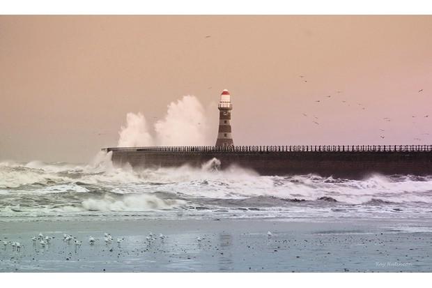 Storm over Roker pier