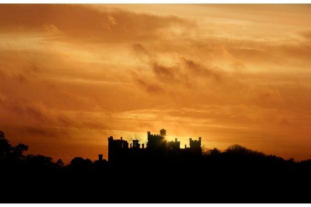 Belvoir Castle at sunset