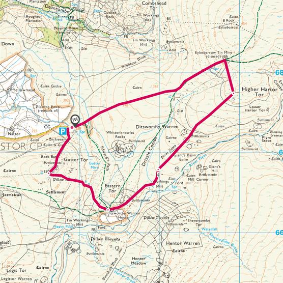 Gutter tor map