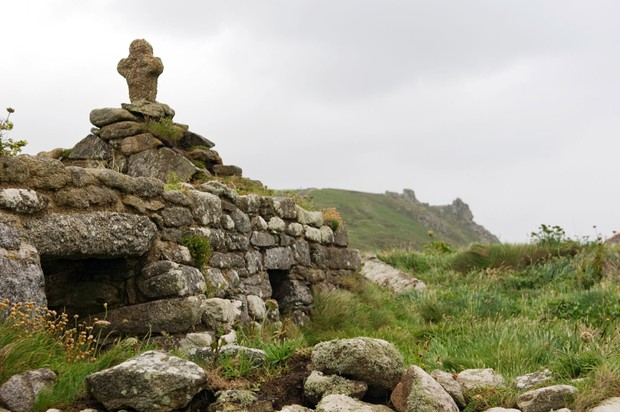 Small stone chapel ruins