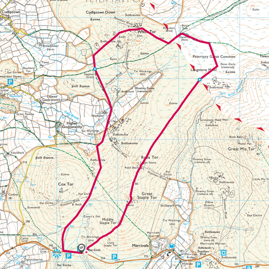 White Tor map