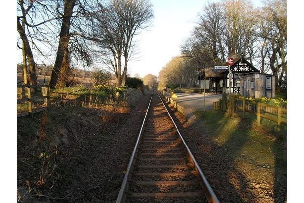 Rural railway platform