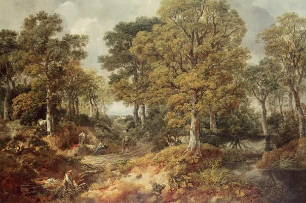 Gainsborough's Forest by Thomas Gainsborough, oil incanvas
