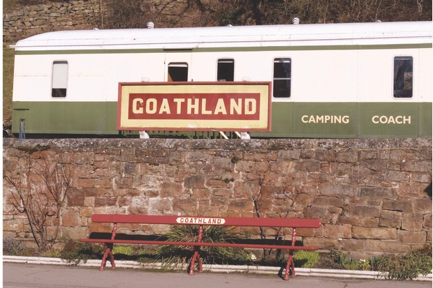 A railway Camping Coach at Goathland Station North Yorkshire Moors Railway