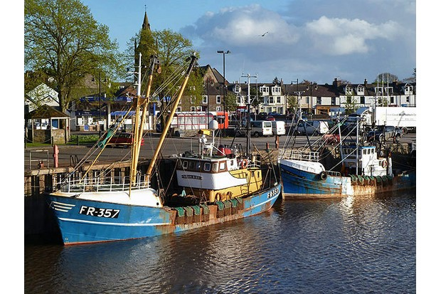 The harbour at Kirkcudbright