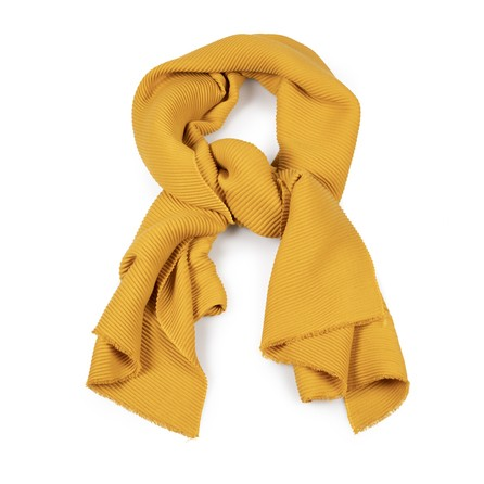 pleated ochre scarf