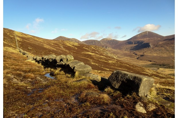Looking north-west in to Northern Ireland's Mourne Mountains from the foot of Sleeve Binnian ©Jake Graham