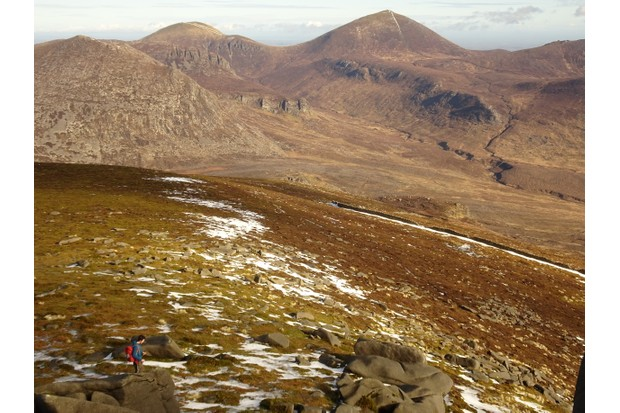 From Slieve Binnian looking north-east to Slieve Donnard in the Mountains of Mourne ©Jake Graham