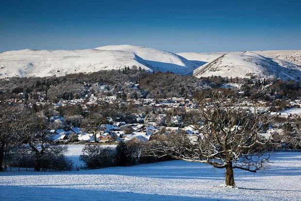 Church Stretton, aka Little Switzerland, in the snow, Shropshire