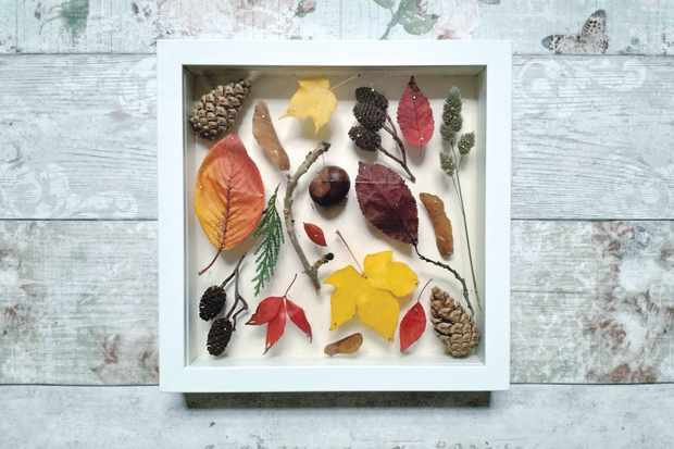 How to make a nature collage ©Louise Smith