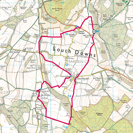 North Marden map