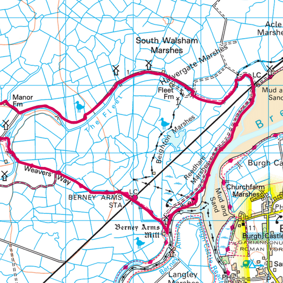 Berney Marshes map