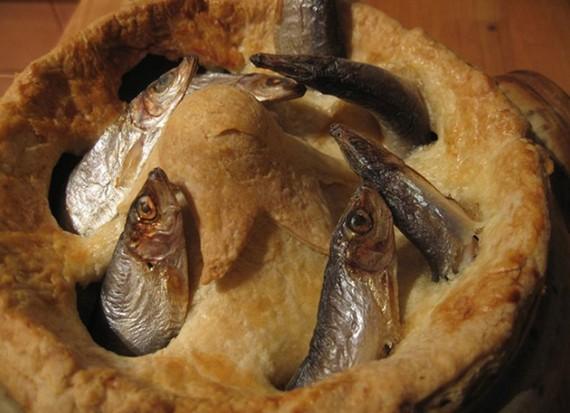 Stargazy Pie (Image by: The Cornish Fishmonger)
