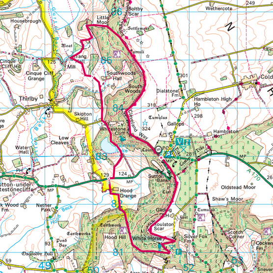 Sutton Bank map